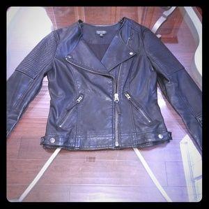 Topshop black faux leather jacket